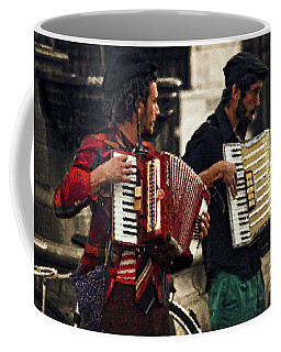 Accordion Players In The Plaza Coffee Mug