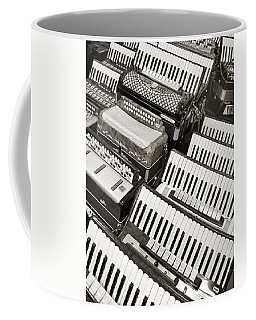 Coffee Mug featuring the photograph Accordions by Mary Lee Dereske