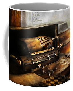Accountant - The Adding Machine Coffee Mug by Mike Savad