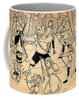 Coffee Mug featuring the painting Archery In Oxboar by Reynold Jay