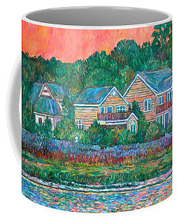 Coffee Mug featuring the painting Across The Marsh At Pawleys Island       by Kendall Kessler