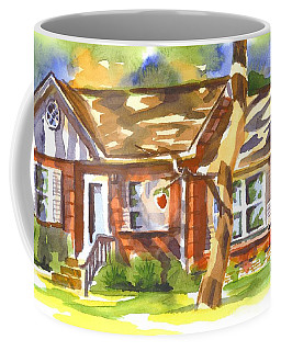 Coffee Mug featuring the painting Adams Home by Kip DeVore