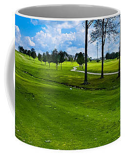 Coffee Mug featuring the photograph Addressing The Ball  by Lars Lentz