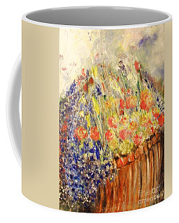 Coffee Mug featuring the painting Adirondack Floral by Laurie Lundquist