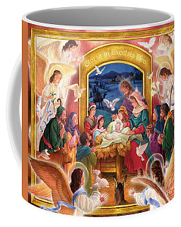 Adoring Angels Nativity Coffee Mug