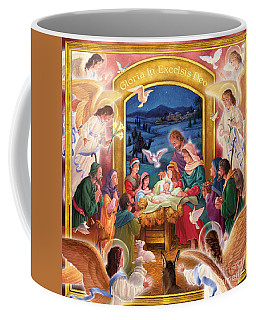 Adoring Angels Nativity Square Coffee Mug