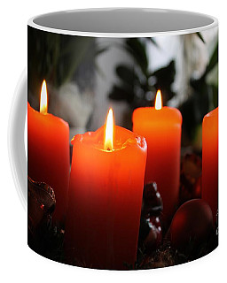 Advent Candles Christmas Candle Light Coffee Mug by Paul Fearn