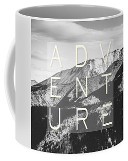 Adventure Typography Coffee Mug