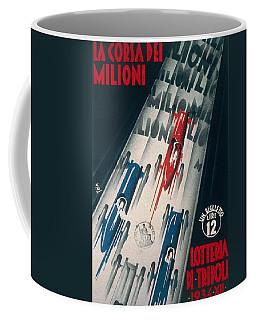 Advertisement For Lottery Of Tripoli Grand Prix Coffee Mug