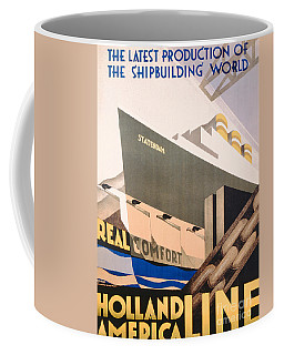 Advertisement For The Holland America Line Coffee Mug