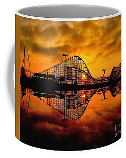Adventure Pier At Sunrise Coffee Mug by Nick Zelinsky