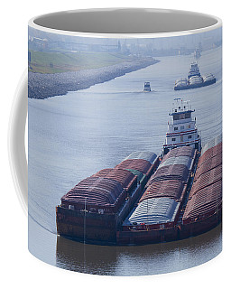 Aep Tow Passing Through The Chain Of Rocks Canal Coffee Mug