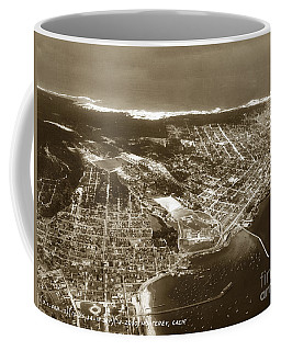 Aerial  Of Monterey Calif. Oct. 25 1934 Coffee Mug