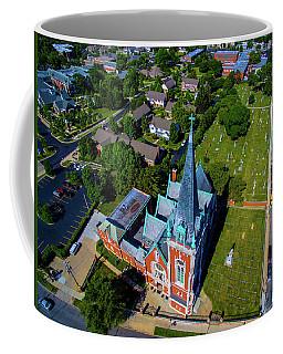 Aerial View Of Angel Guardian Church Coffee Mug