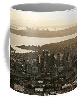 Aerial View Of Bellevue Skyline Coffee Mug