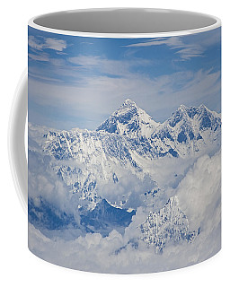 Aerial View Of Mount Everest Coffee Mug by Hitendra SINKAR