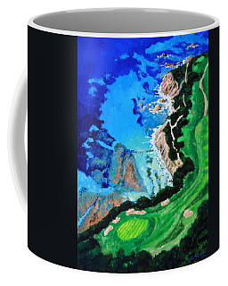 Aerial View Of Pebble Beach Coffee Mug