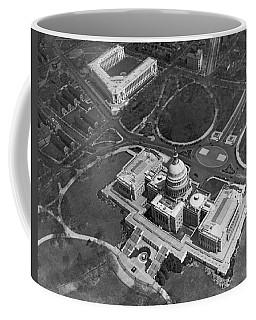 Aerial View Of U.s. Capitol Coffee Mug