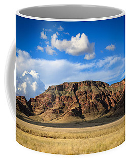Aferican Grass And Mountain In Sossusvlei Coffee Mug