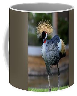 African Crowned Crane Running Coffee Mug