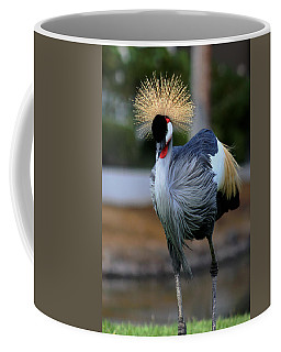 African Crowned Crane Running Coffee Mug