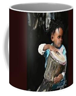 African Drummer Boy Coffee Mug by Vannetta Ferguson