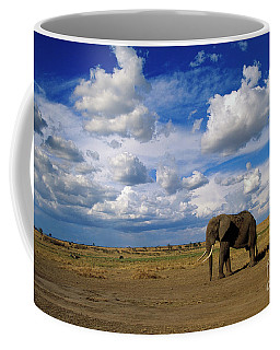 African Elephant Walking Masai Mara Coffee Mug