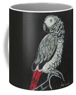 Coffee Mug featuring the painting African Grey by Jeanne Fischer