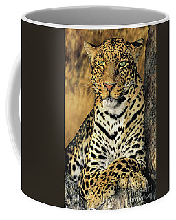 African Leopard Portrait Wildlife Rescue Coffee Mug