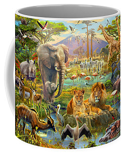 African Watering Hole Coffee Mug