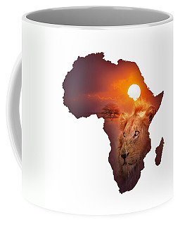 African Wildlife Map Coffee Mug