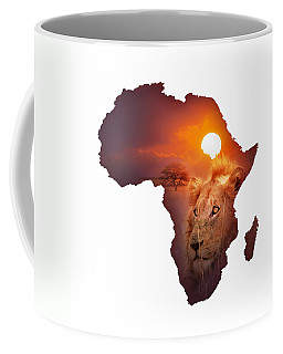African Wildlife Map Coffee Mug