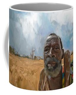 Coffee Mug featuring the mixed media Afrikan Bushman by Vannetta Ferguson