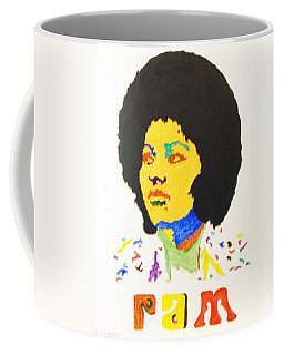 Coffee Mug featuring the painting Afro Pam Grier by Stormm Bradshaw
