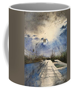 After Rain -on The Michigan Ave. Saline Michigan Coffee Mug by Yoshiko Mishina