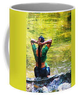 After The River Bathing. Indian Woman. Impressionism Coffee Mug