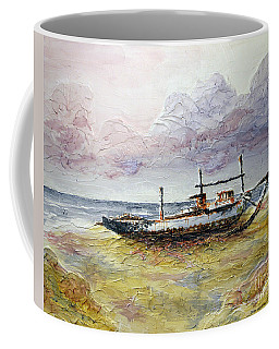 Coffee Mug featuring the painting After The Storm by Joey Agbayani