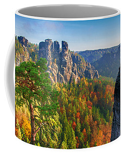 After The Sunrise On The Bastei Coffee Mug