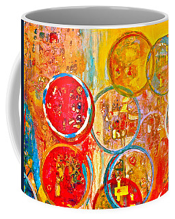 Against The Rain Abstract Orange Coffee Mug