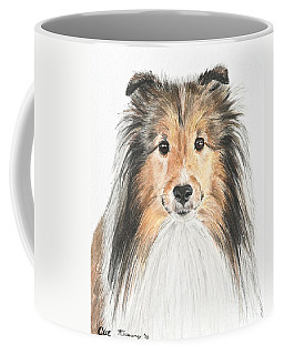 Agility Dog Sheltie In Pastel Coffee Mug by Kate Sumners