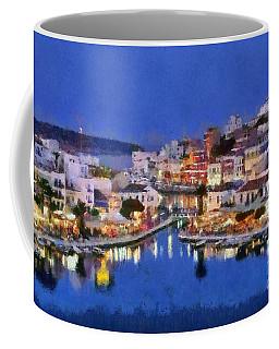 Painting Of Agios Nikolaos City Coffee Mug