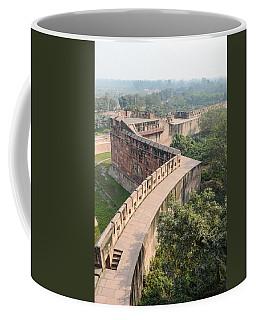 Agra Fort With Taj Mahal In The Background Coffee Mug