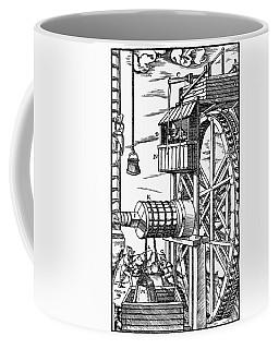 Agricola Waterwheel, 1556 Coffee Mug