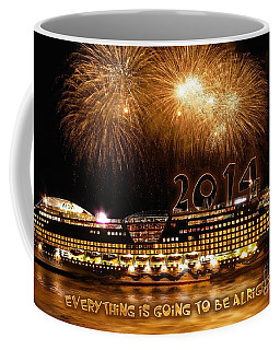 Coffee Mug featuring the photograph Aida Cruise Ship 2014 New Year's Day New Year's Eve by Paul Fearn