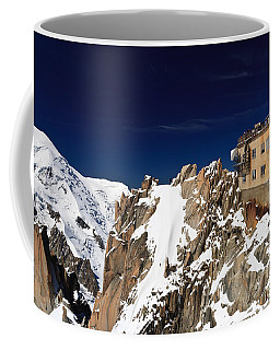 Coffee Mug featuring the photograph Aiguille Du Midi -  Mont Blanc Massif by Antonio Scarpi
