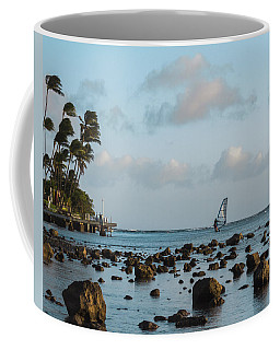 Coffee Mug featuring the photograph Aina Haina Windsurfer 1 by Leigh Anne Meeks