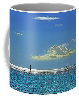Coffee Mug featuring the photograph Air Beautiful Beauty Blue Calm Cloud Cloudy Day by Paul Fearn