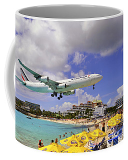Air France Landing At St Maarten Coffee Mug