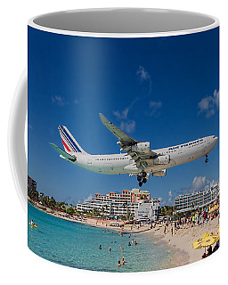 Air France Low Approach At St. Maarten Coffee Mug