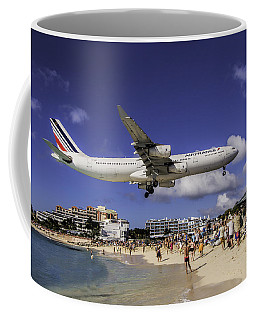 Air France St. Maarten Landing Coffee Mug by David Gleeson